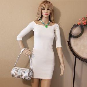 """TORN"" - Off-White Mini-Dress"
